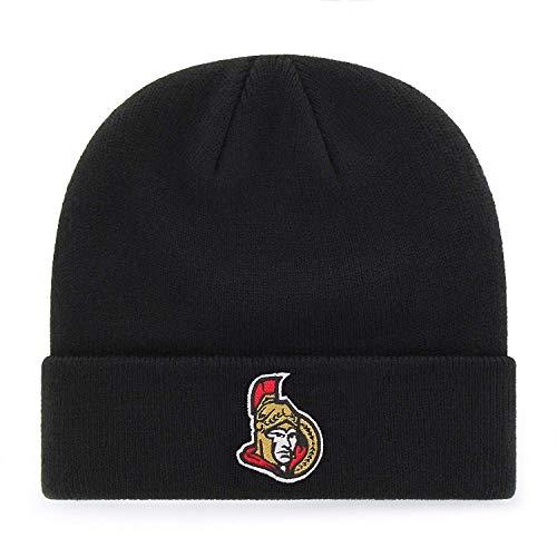'47 Ottawa Senators Black Cuff Beanie Hat - NHL Cuffed Winter Knit Toque Cap