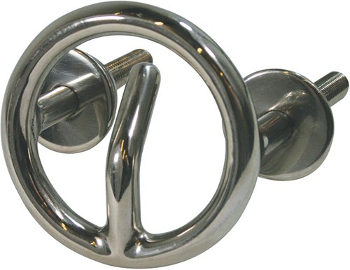 3'' Round Stainless Steel Transom Mount Ski Tow Ring 1/2'' Bolts , 2-1/4'' Bolt Lengths, 2-5/8 Center to Center by Harvard Marine