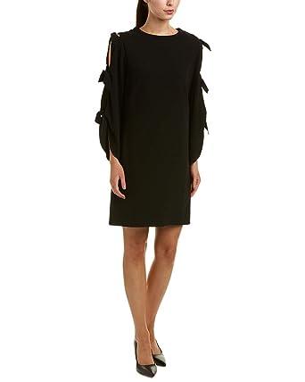 f47e984d98fe3 Tahari ASL Women's Long Sleeve Ties Shift Dress Black 10 at Amazon Women's  Clothing store: