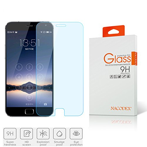 MEIZU MX4 Pro Tempered Glass Screen Protector,Nacodex HD Tempered Glass Screen Protector Film Guard Shield, 0.3mm 2.5D [New in Box] (For Meizu MX4 Pro)