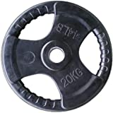 Skyland Rubber Gym Weight Plate, EM-9264 - 20 Kgs (Black)