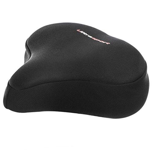 Ultrasport Komfort Sattelbezug mit Geleinlage, Schwarz, One Size, 330900000097