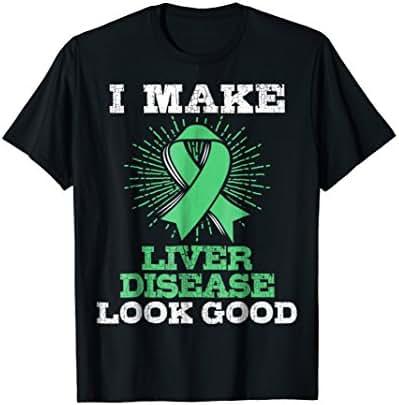 Emerald Green Awareness Ribbon Liver Disease Tee
