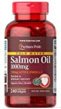 Puritan's Pride Omega-3 Salmon Oil 1000 mg (210 mg Active Omega-3)-240 Softgels For Sale