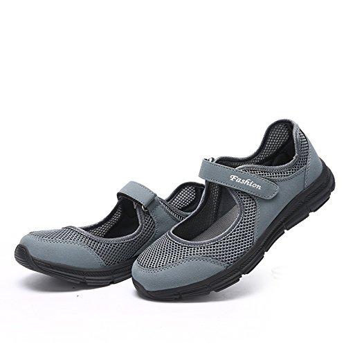 CARETOO da con per Mesh Altamente all'aperto Velcro Donna Antiscivolo Fitness Calzature Sportive Traspirante Scarpe Grigio 557xYnqr
