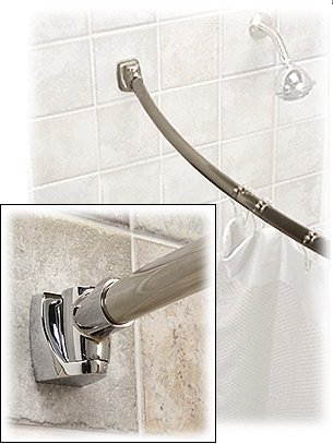 Curved Shower Rod   Polished Stainless Steel