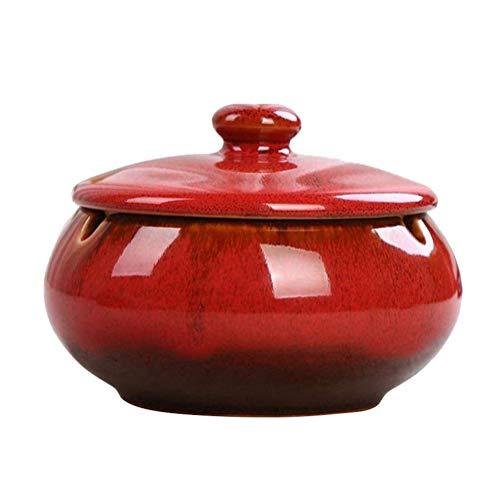 HOOKDOR Ceramic Ashtray with Lids