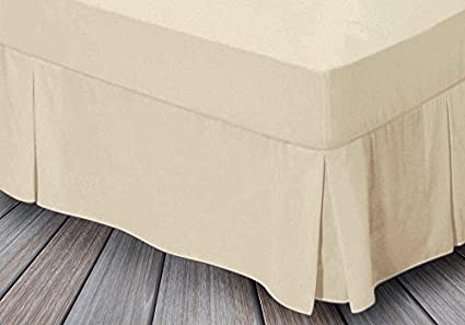 Non Iron Percale Valance Fitted Bed Sheet Frilled Base Fitted Valance Bed Sheets