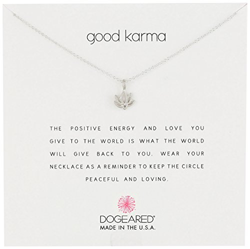 Dogeared Karma Happy Lotus Necklace