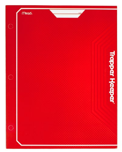 Mead Trapper Keeper 2-Pocket Portfolio, 12 x 9.38 x .12 Inches, Red (72652)