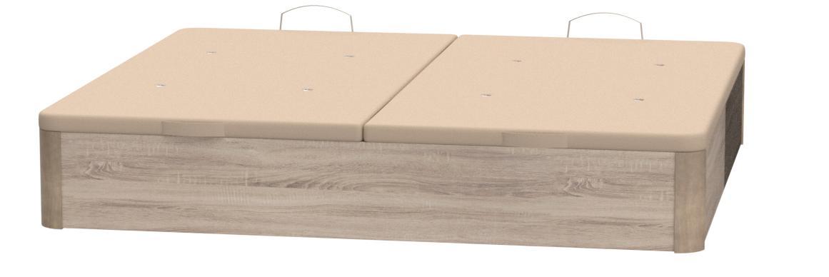 Santino Canapé Abatible Wooden Gran Capacidad Blanco 180x200 ...