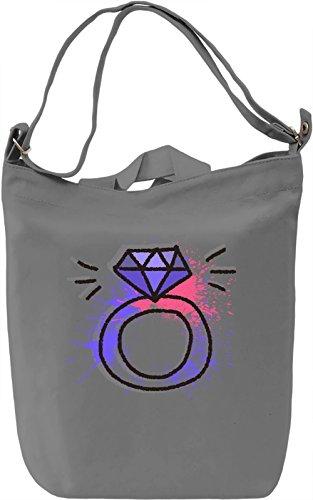 Diamond Ring Borsa Giornaliera Canvas Canvas Day Bag| 100% Premium Cotton Canvas| DTG Printing|