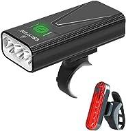 EBUYFIRE USB Rechargeable Bike Light Set, 3000 Lumens Bike Headlight 3 LED【Upgrade Mount】,Super Bright Headlig