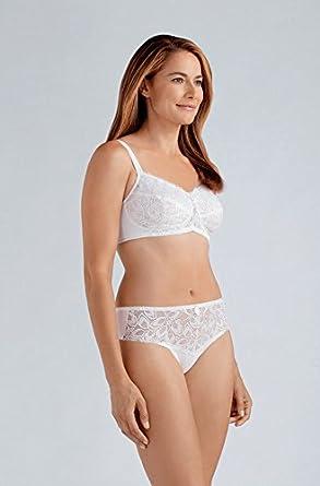 1284528511 Amazon.com  Amoena Rebecca Soft Mastectomy Bra - white size 46C  Clothing