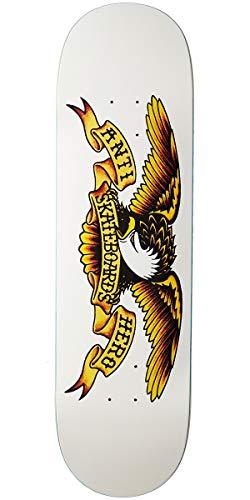 Anti Hero White Classic Eagle - 8.75 Inch Skateboard Deck (Default , White) (Hero Eagle Anti)