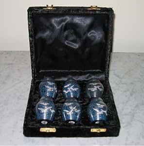 amazon com set of 6 peaceful journey keepsake urns 6