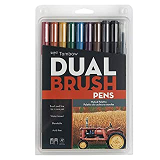 Tombow Dual Brush Pen Set, Muted Colors, Assorted, 10 Pack-56186 (B00JVB8FCY) | Amazon price tracker / tracking, Amazon price history charts, Amazon price watches, Amazon price drop alerts