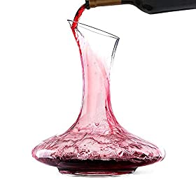 Bella Vino Wine Decanter and Aerator with a Wide B...