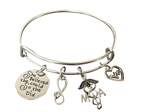 Medical Assistant Bracelet/Charm Bracelet, Nurse Jewelry, Makes Perfect Medical Assistant Gifts