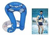 Elisona Inflatable Children / Adults Swimming Float Tube Swim Ring Trainer (Blue ,Size M)