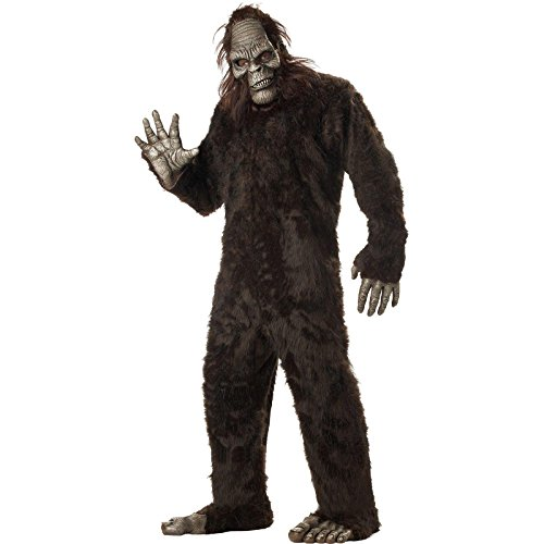 California Costumes Men's Plus-Size Big Foot Suit Costume In Plus, Dark Brown, Plus Size - Bigfoot Suit