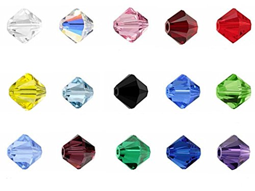 TianBo Wholesale Mix Lots 6mm #5301 Faceted Bicone Shape Crystal Glass Beads #5301 (750pcs) CCS4