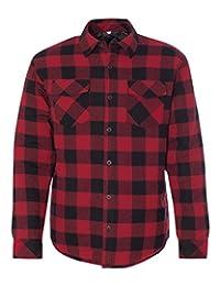 Burnside mens Quilted Flannel Jacket (8610)