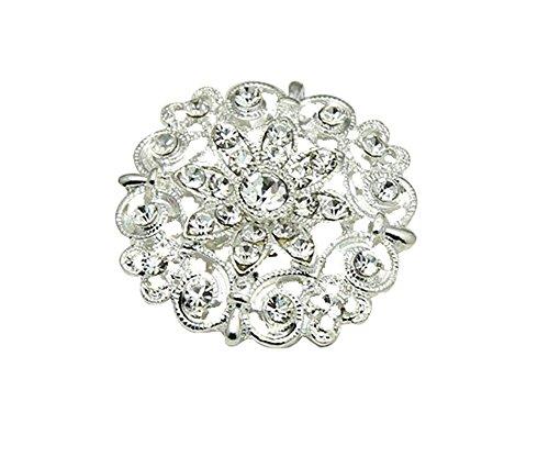 niceEshop(TM) Elegant Crystal Rhinestone Flower Wreath Pin Brooch