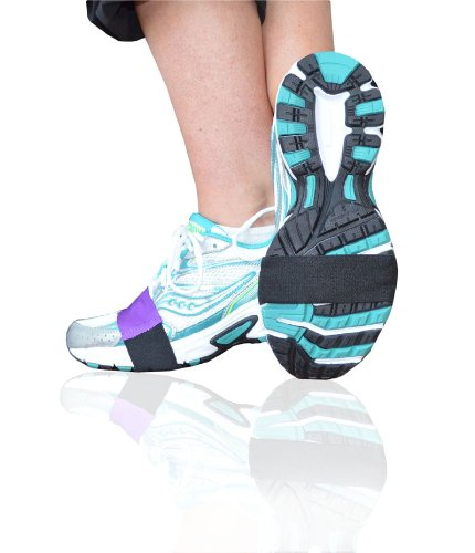 Purple Smooth Dancers for Shoes to Glide on wood, tile or linoleum floors – Latest Stylish Accessory in Workout Footwear – Dance in Sneakers and Protect Knees – - By Slip-On Dancers Dancer Footwear