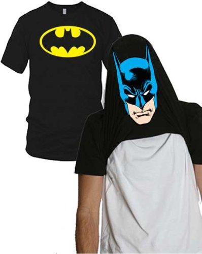 Batman Face Flip-up Reversible Tee Shirt X-Large (Flip Tee)
