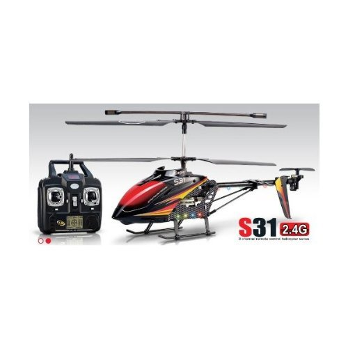 Syma S31 24″ Metal Eagle 3CH Helicopter 2.4 Ghz Black/Red