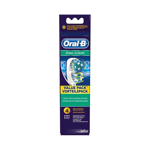 Braun Oral-B EB417-4 Dual Clean Replacement Rechargeable Toothbrush Heads – Pack of 4 Review