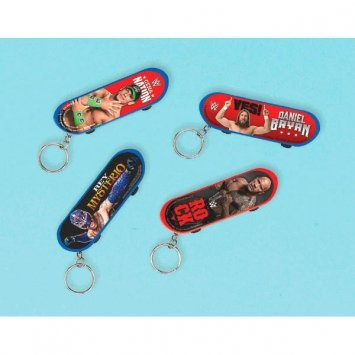 WWE Skateboard With Keychain Birthday Party Favors Set of 12 by Amscan