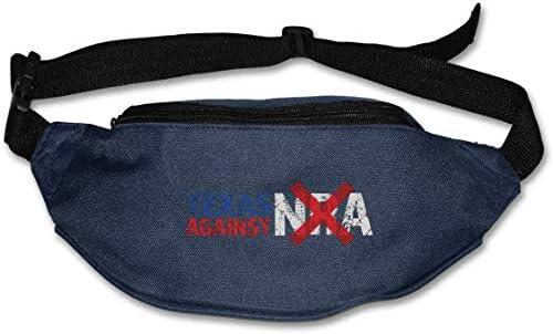 NRAユニセックスアウトドアファニーパックバッグベルトバッグスポーツウエストパックに対するテキサス