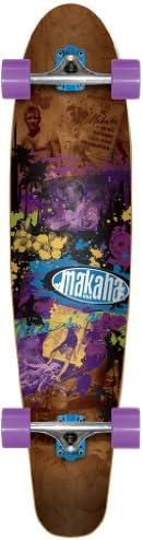 Makaha Tower 17 Longboard、ブラウン、10 x 44インチ