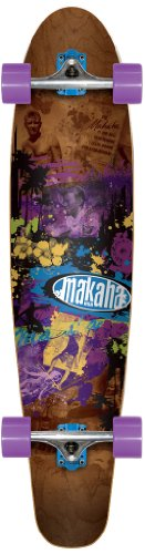 Makaha Tower 17 Longboard, Brown, 10 x 44-Inch (Skateboard Makaha Trucks)