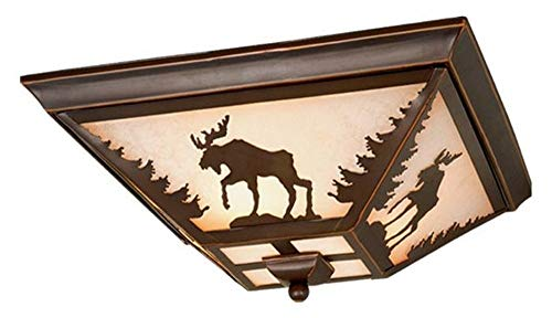 Vaxcel Lighting CC55614BBZ Yellowstone - Three Ceiling Fan Light Kit, Burnished Bronze Finish with Amber Flake ()
