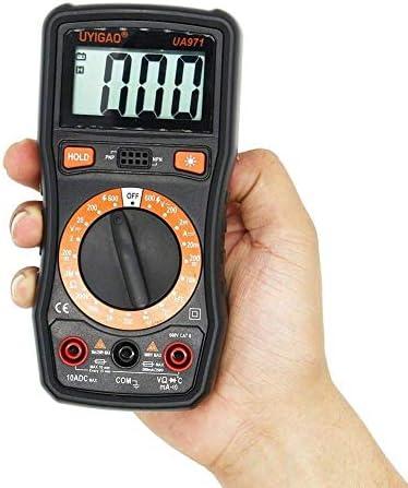 LKK-KK UA971 LCD Display Handheld Digital Multimeter AC/DC Voltage DC Current Resistance Temperature Transistor HFE Measurement