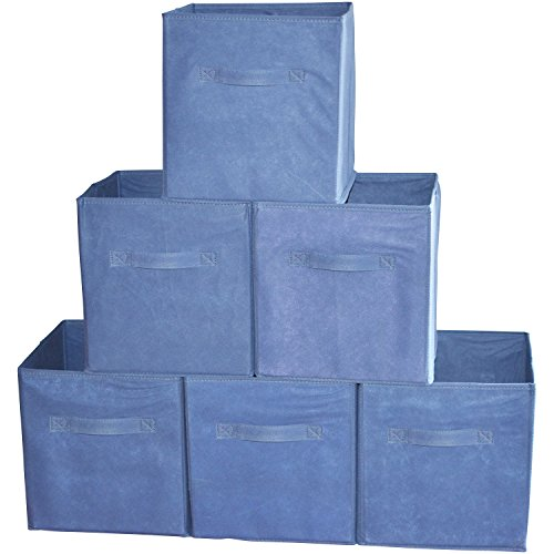 fabric cube bins with lids - 7