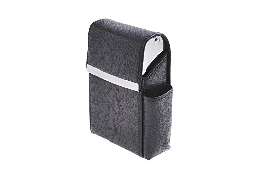 Quantum Abacus Case for Cigarette Packets, made of PU leather, suitable for all common sizes, with extra pocket for a mini lighter, Mod. 325-01 (US)