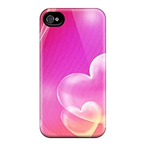 Durable Pink Hearts Back Cases/covers For Iphone 6