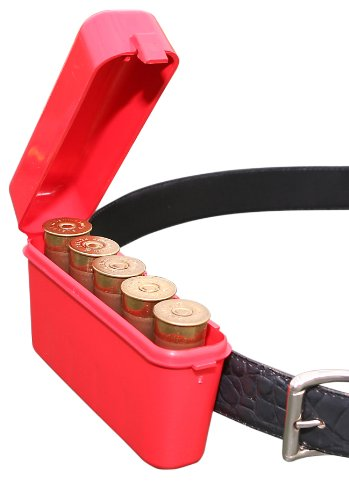- MTM Shotshell 5 Round Belt and Pocket Case (Red)