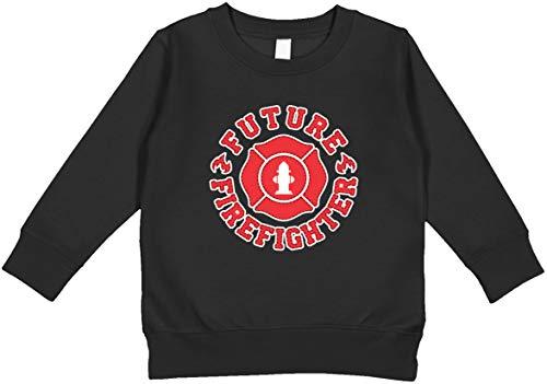 Amdesco Future Firefighter Toddler Sweatshirt, Black 3T