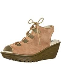 Women's Parallel Peep Toe Ghillie Slingback Wedge Sandal