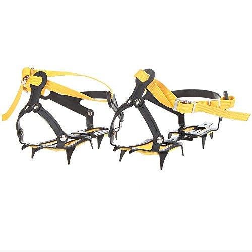 (Strap Type Crampons Ski Belt High Altitude Hiking Slip-resistant 10 Crampon Ice Gripper for Winter Outdoor Skiing)