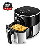 JESE Air Fryer, Multifunctional 3.5 Qt Air Fryer with Cook book, Auto Shut-off, Accurate Timer and Temperature Control (Silver)