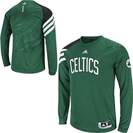 Boston Celtics Men s On-Court Long Sleeve Shooting Shirt adidas NBA (Small) 95214e914