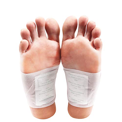 Kurtzy Detox Foot Pads (100 Pack) – Patches with 100 Adhesive Sheets for Feet – Relieve Stress & Pain, Improve Sleep…