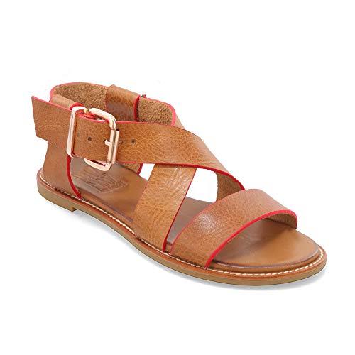 (Miz Mooz Nella Women's Ankle Strap Sandal Camel)