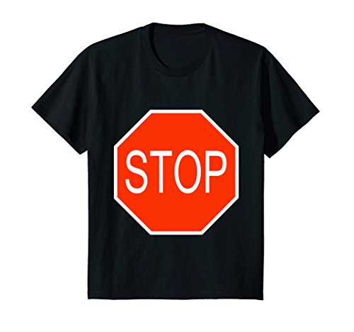 Kids Stop Sign Simple Easy Halloween Costume T-Shirt 4 (Halloween Costumes Appropriate For Teacher)